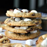 Wicked S'more Cookies {Chocolate, Marshmallow and Graham!}