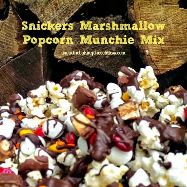 Snicker Marshmallow Popcorn Munchie Mix