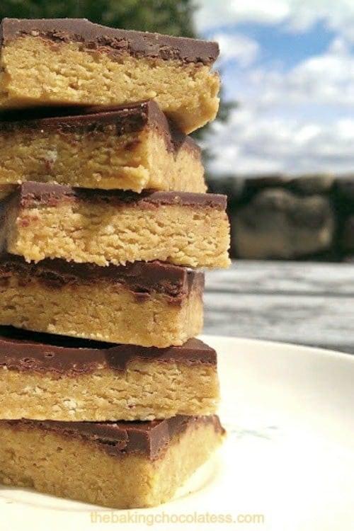 Peanut Butter Bars {No-Bake}