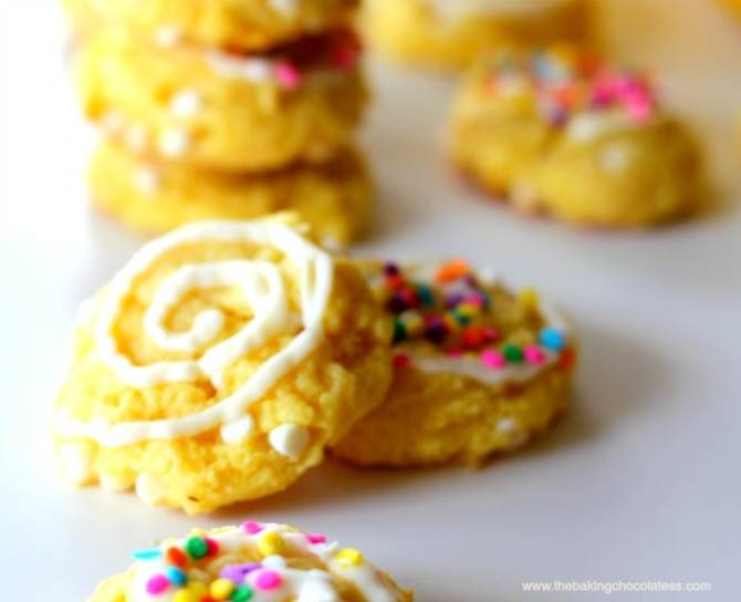 Lemon Cookies Made With Cake Mix And Cream Cheese