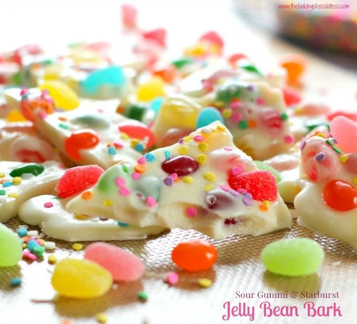 Sour Gummi & Starburst Jelly Bean Bark