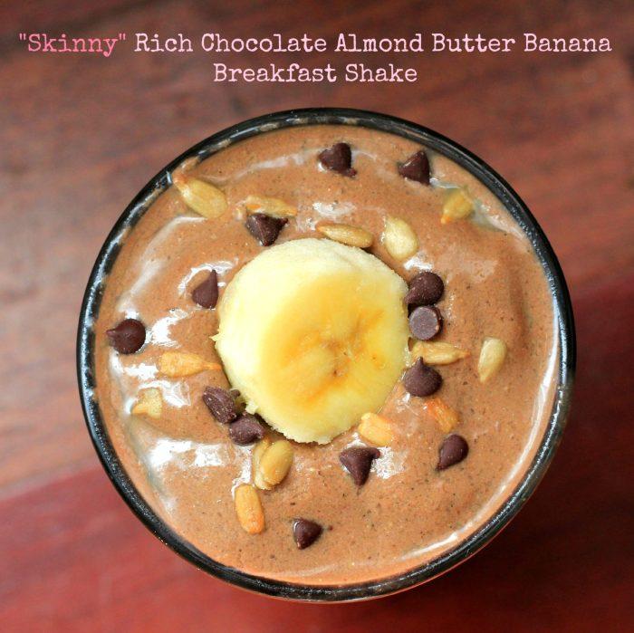Skinny Chocolate Almond Banana Breakfast Shake