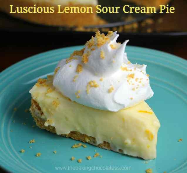 Luscious Lemon Sour Cream Pie