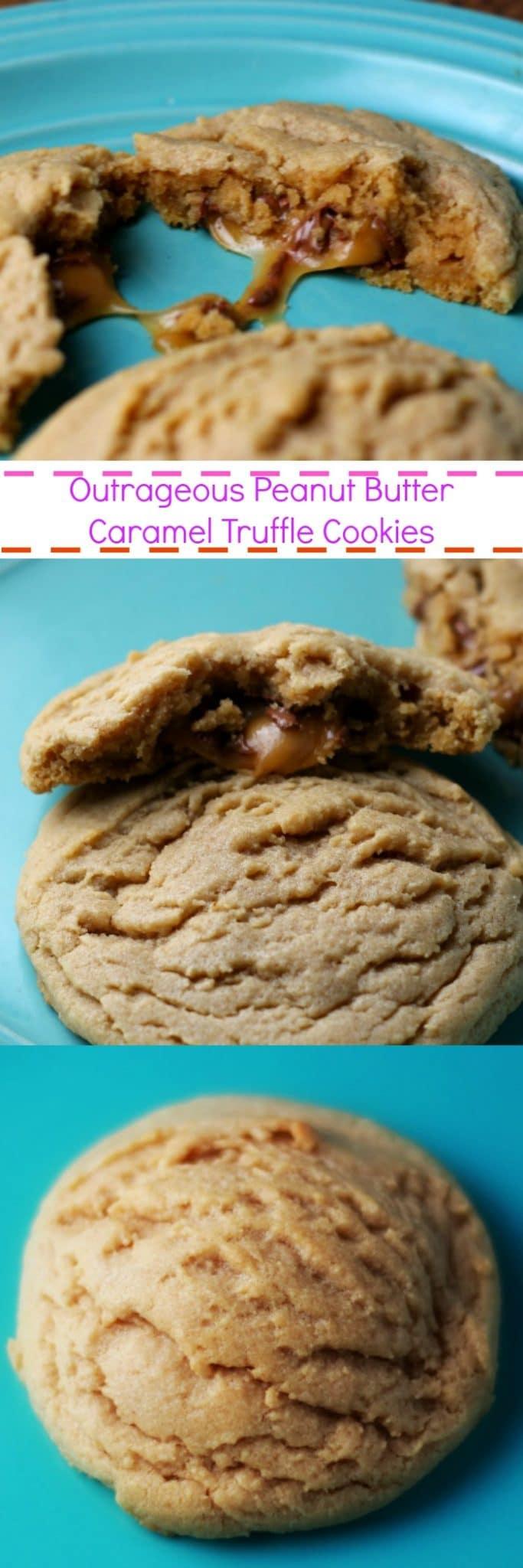 Outrageous Peanut Butter Caramel Truffle Cookies