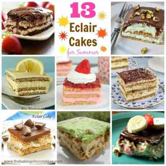 13 Eclair Cakes for Summer-Time Impressing!