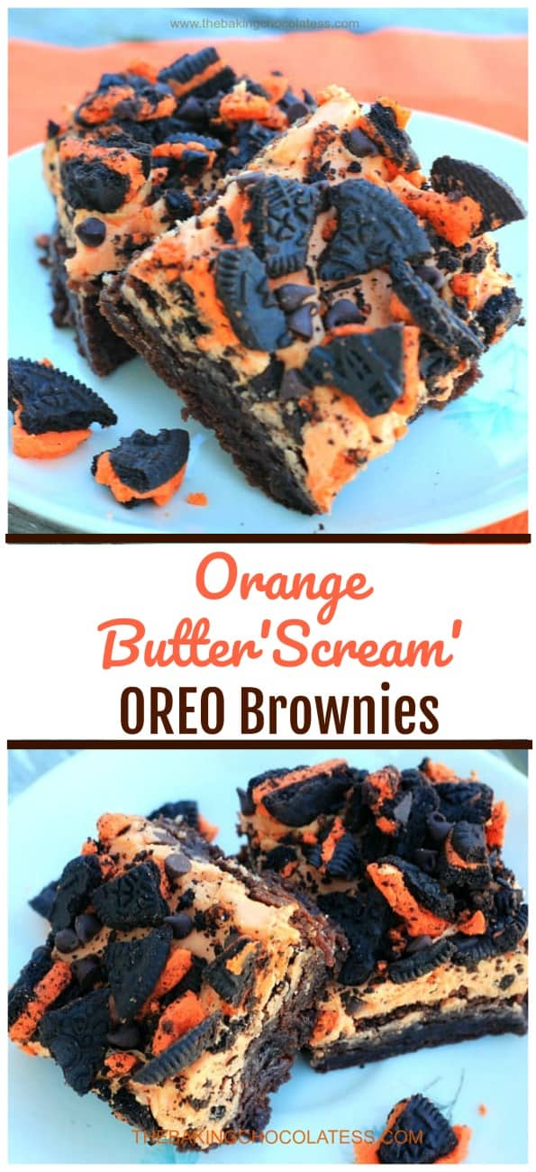 Orange Butter'Scream' Oreo Brownies