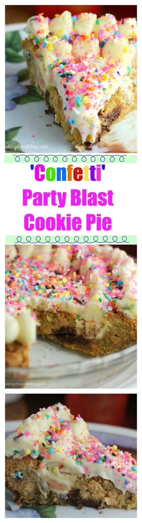 'Confetti' Party Blast Cookie Pie