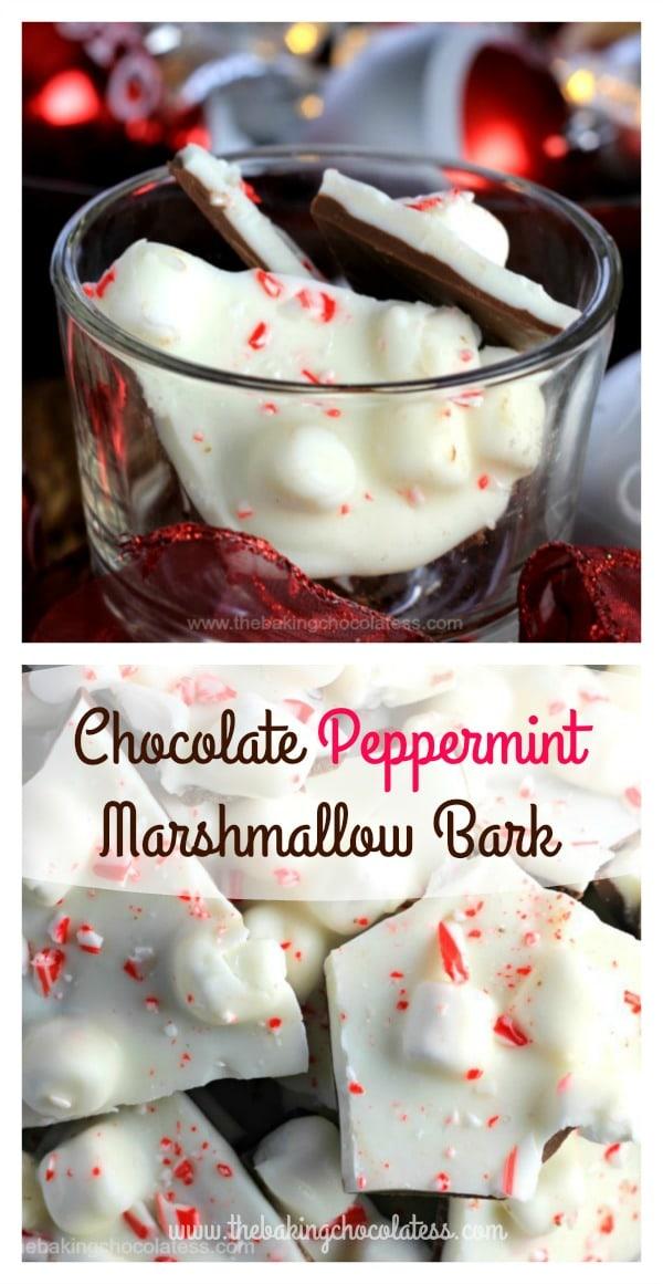 Ooh-la-la Chocolate Peppermint Marshmallow Bark