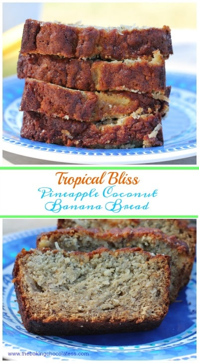 Tropical Bliss Pineapple Coconut Banana Bread {Gluten Free}