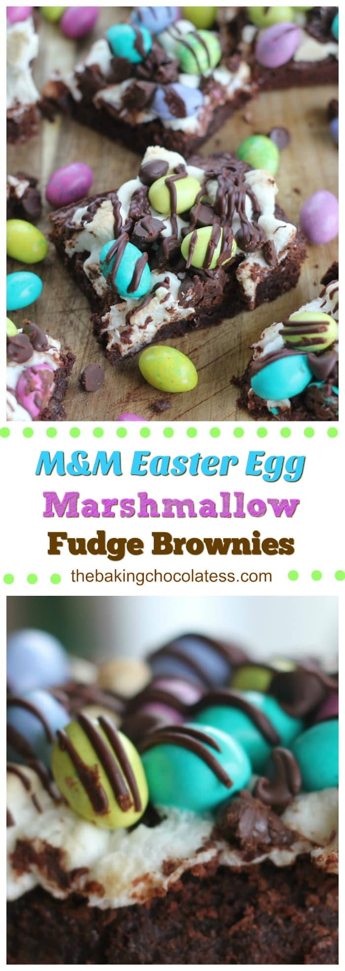 M&M Easter Egg Marshmallow Fudge Brownies -