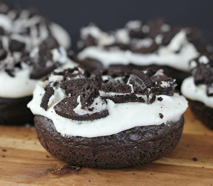 Fluffy Oreo Chocolate Cake Donuts