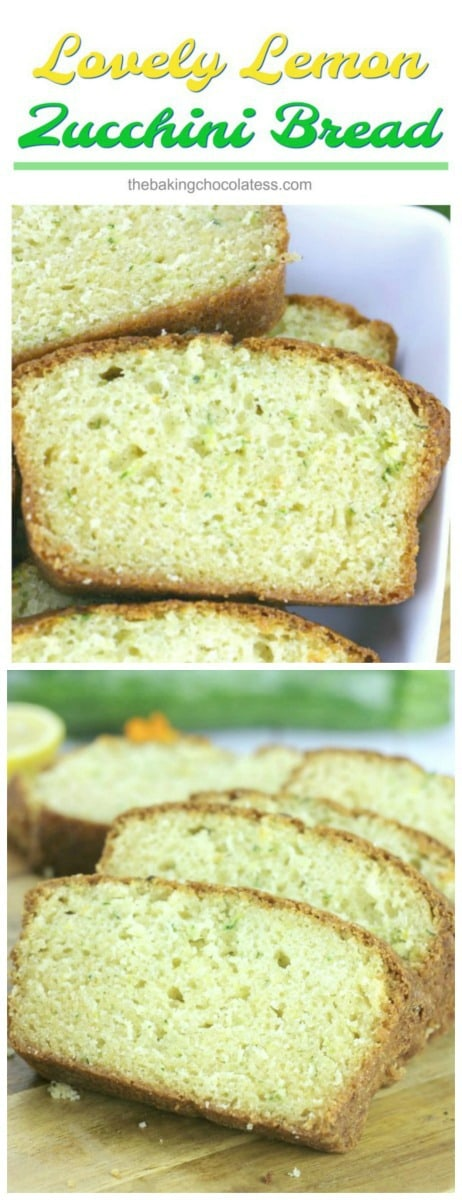 Lovely Lemon Zucchini Bread - This tenderLovely Lemon Zucchini Bread is great for breakfast or snacking with the family or make a loaf for someone you love, just because!
