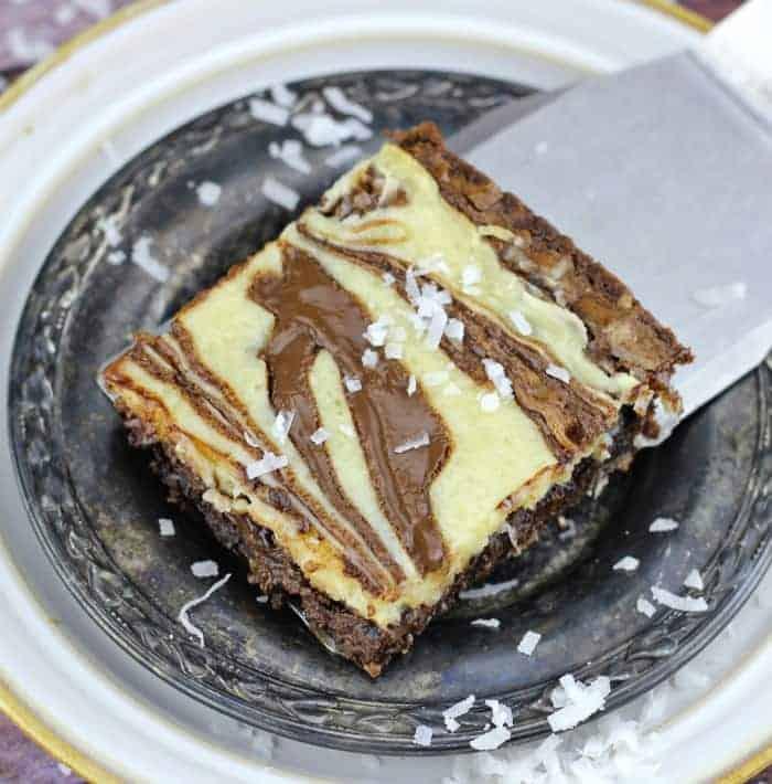 Nutella & Coconut Cheesecake Fudgy Brownies