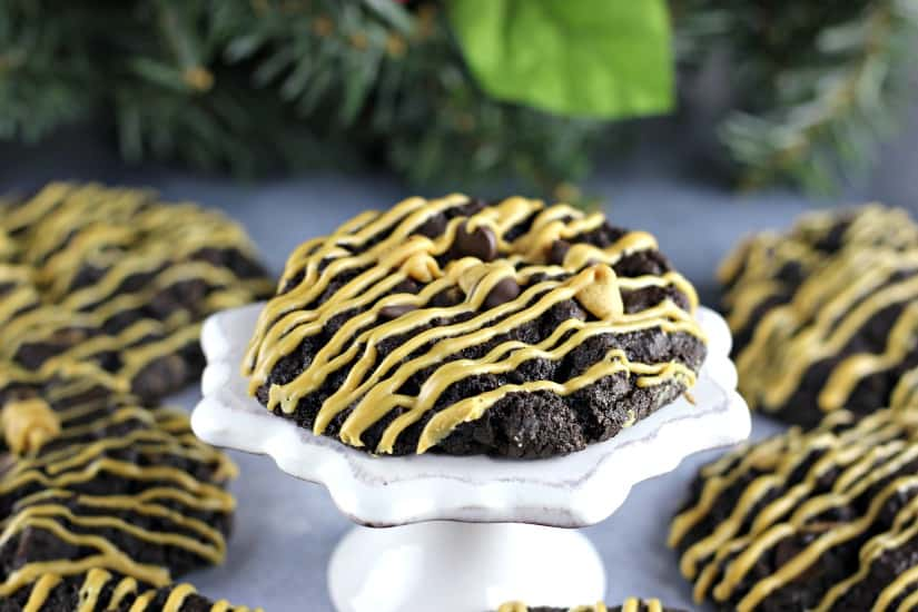 Double Chocolate Peanut Butter Chocolate Chip Cookies