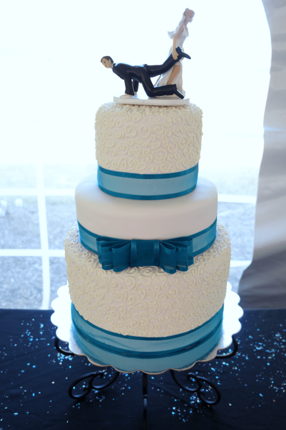 wedding cake turquoise blue turquoise amp white wedding the baking 26732