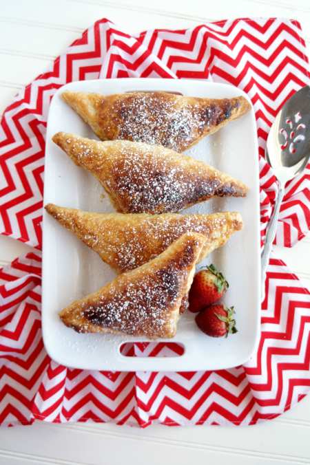 2-ingredient strawberry turnovers   The Baking Fairy