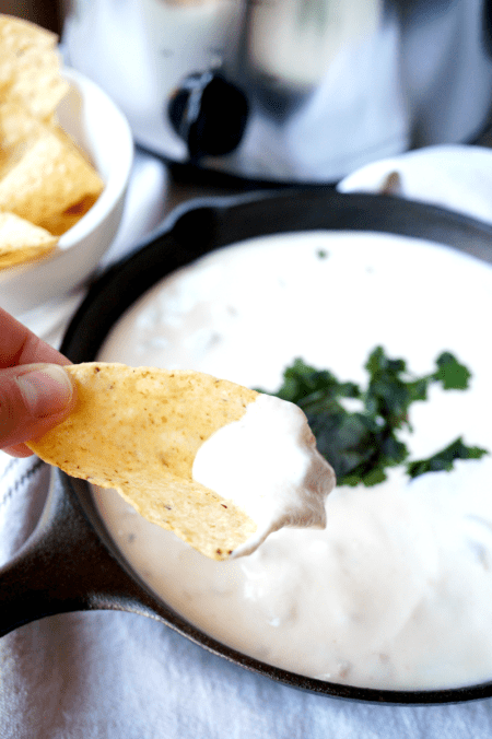5-ingredient white queso | The Baking Fairy