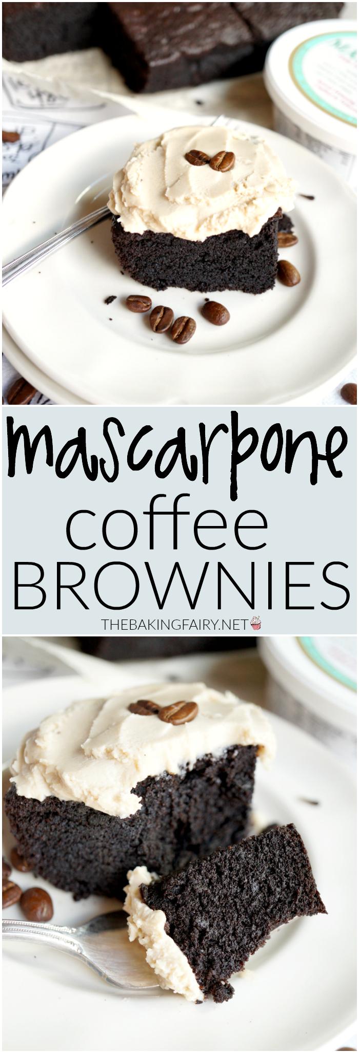 mascarpone coffee brownies | The Baking Fairy