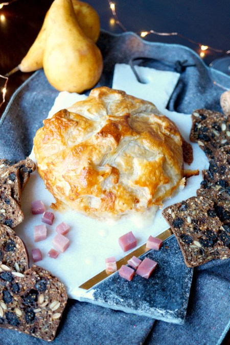 prosciutto pear brie en croute   The Baking Fairy