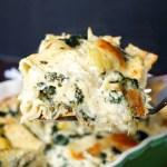 spinach artichoke lasagna | The Baking Fairy