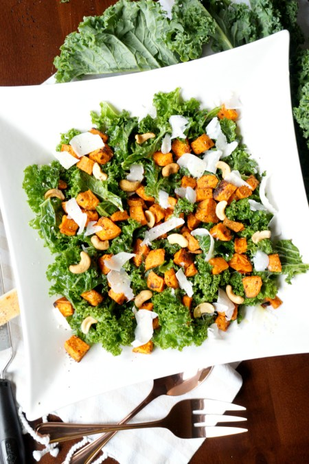 roasted sweet potato kale salad | The Baking Fairy