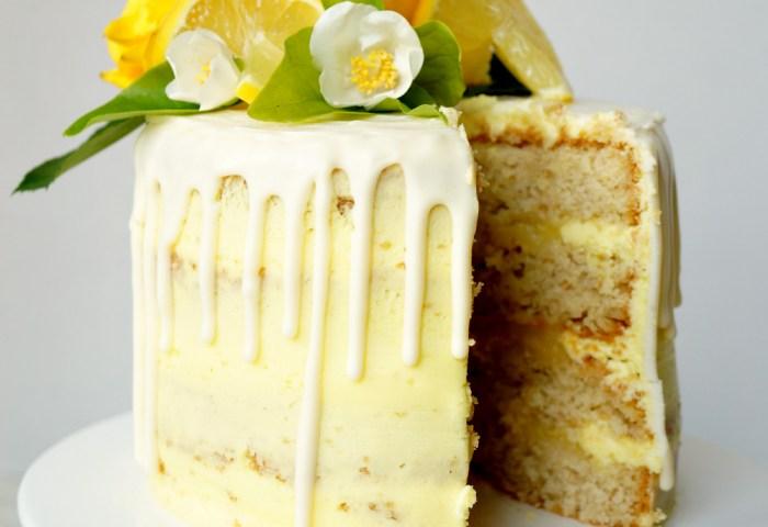 Vegan Lemon Curd Layer Cake The Baking Fairy