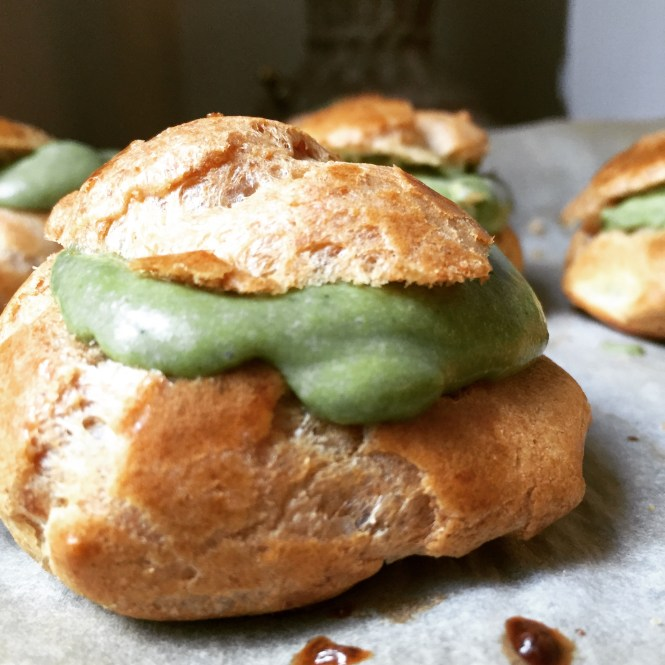 Matcha Cream Puffs 3