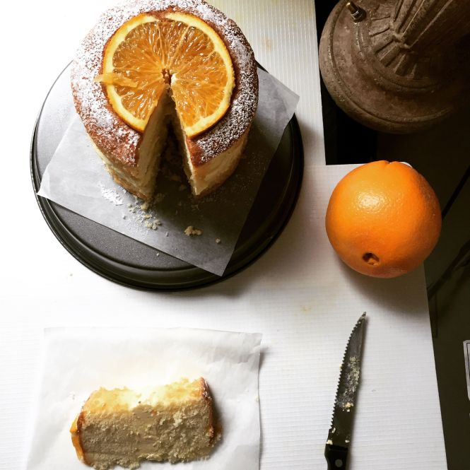 hot milk sponge orange buttercream