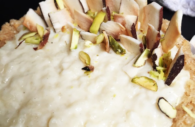 Coconut Phirni recipe Rice Coconut pudding