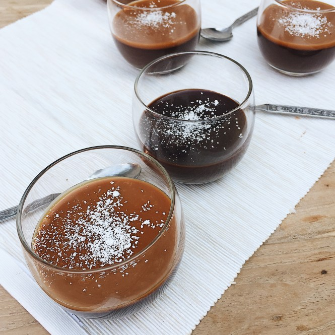 Chocolate Whisky Caramel Pots de Crème