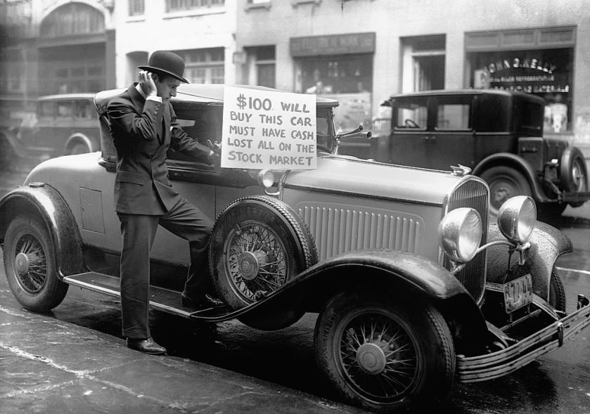 Image result for stock market crash 1929