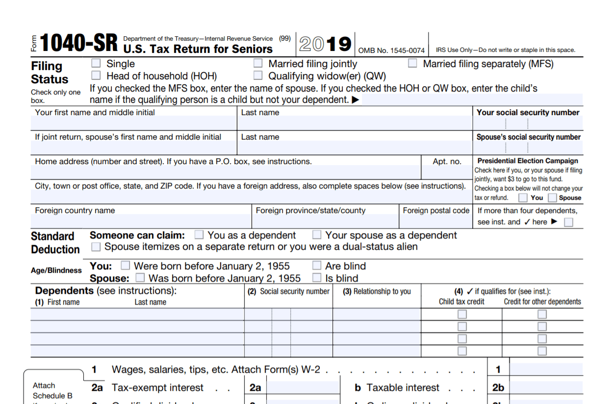Irs Form Sr What Is It