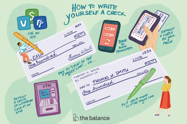 Write a Check to Yourself (Or Move Money Online)