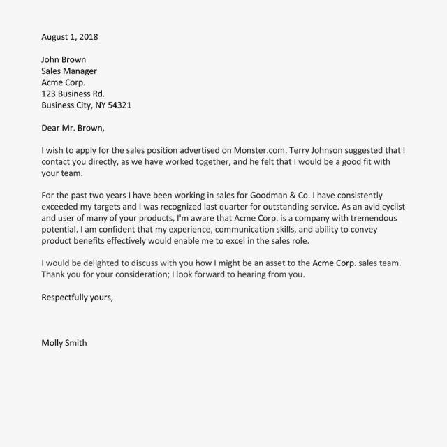 Formal Er Letter Example Beyti