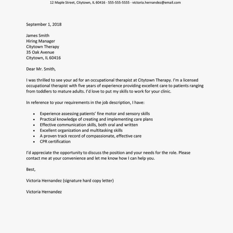Forbes Cover Letter: Cover Letter Example 2018