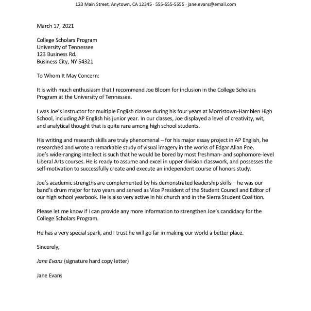 Positive Recommendation Letter Samples