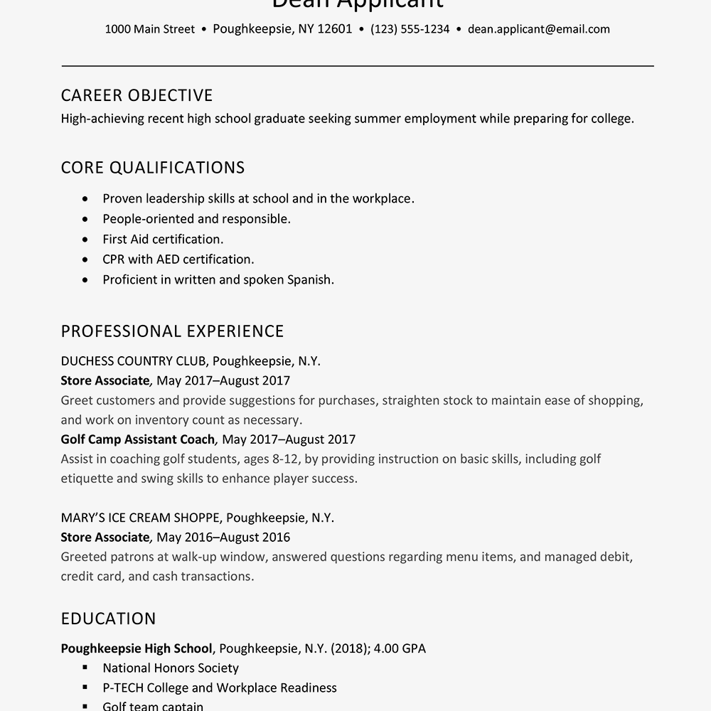 Duties listed on a student worker resume sample are excelling academically, maintaining employment, using office equipment, handling the correspondence, sorting mail, transferring phone calls to appropriate staff, and completing other tasks as assigned by supervisors. Summer Job Resume And Cover Letter Examples