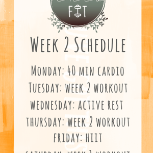 Fall Into Fit Week 2 Schedule