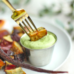 Roasted Root Vegetables with Green Goddess Dip