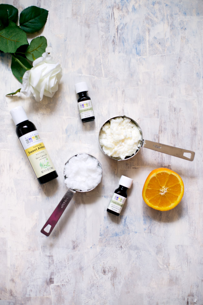 This simple DIY body butter requires only a few ingredients to make, and gently moisturizes the skin. The citrus scent is uplifting and energizing!