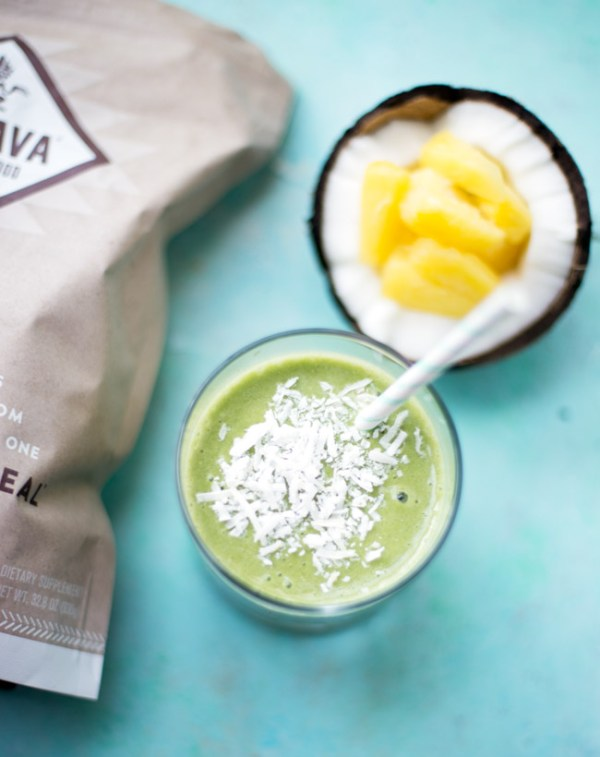 This breakfast-friendly piña colada smoothie is packed with nutrients, and is a mocktail you can feel good about drinking!