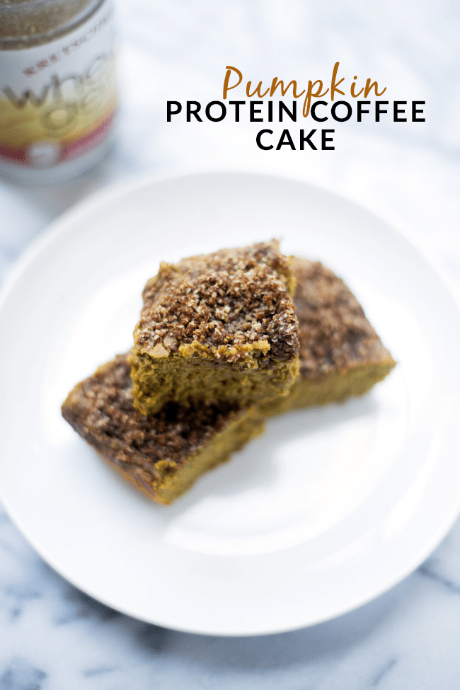 This Protein Pumpkin Coffee Cake is a healthy treat that will satisfy your pumpkin spice craving.