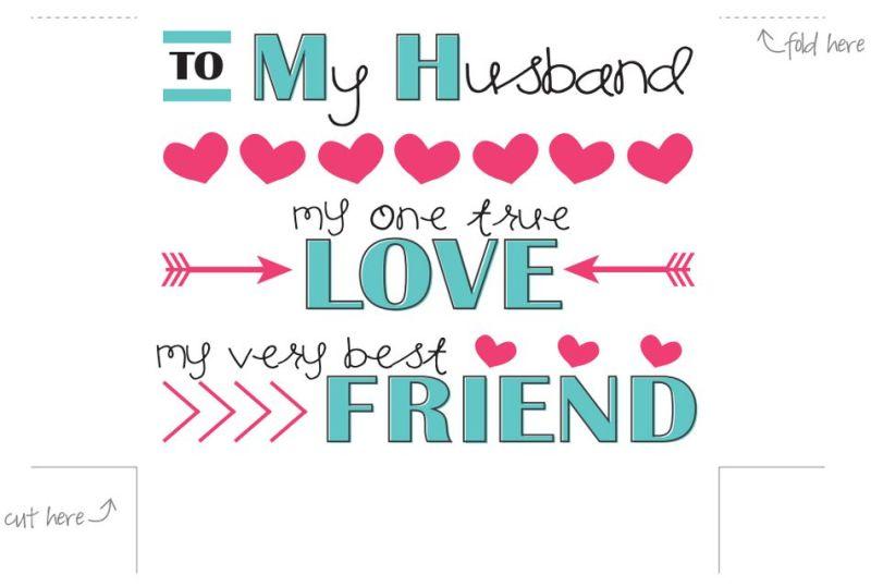 Free Printable Anniversary Cards For My Wife | Cekharga.blog
