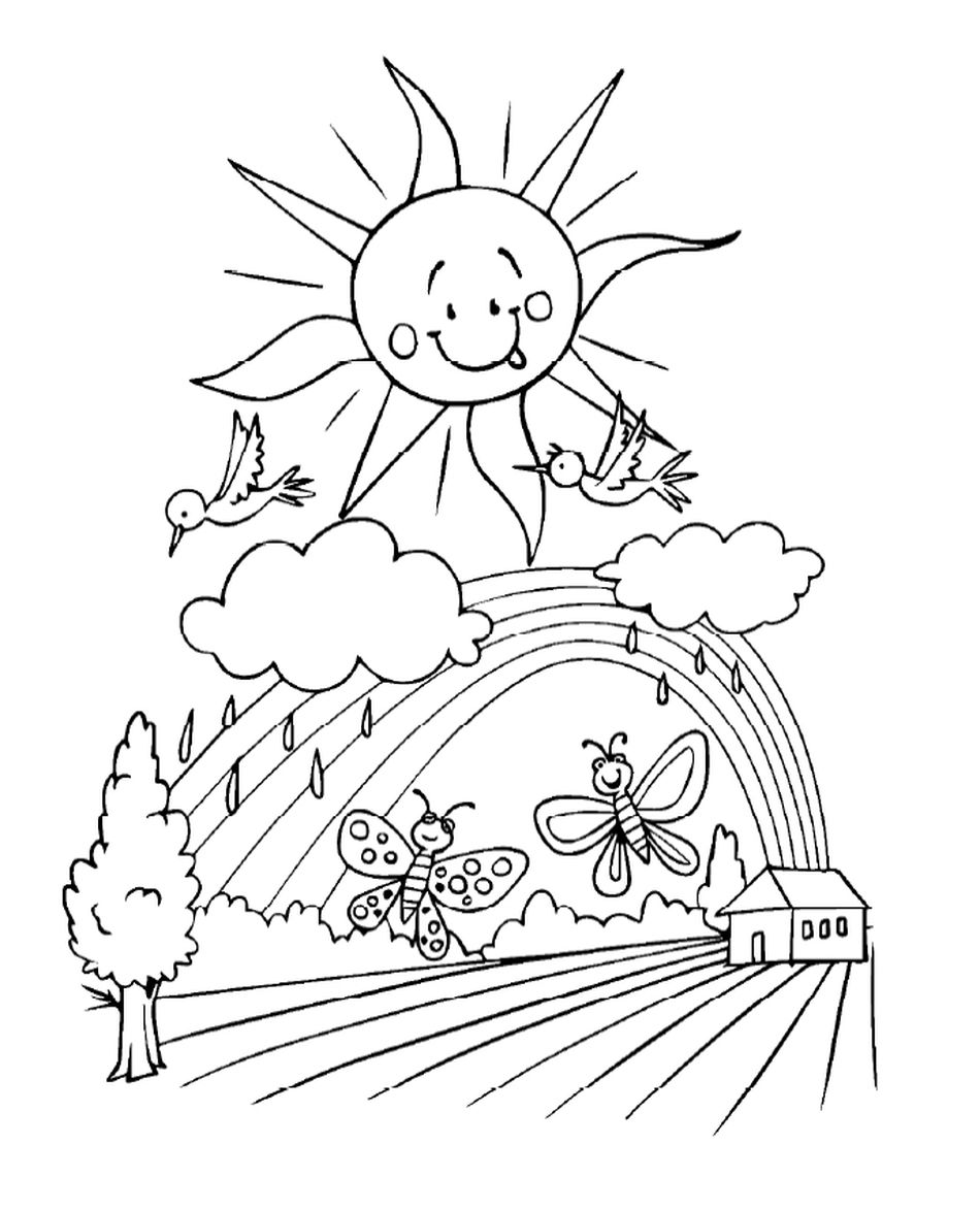 307 Free, Printable Spring Coloring Sheets for Kids | free printable spring coloring pages