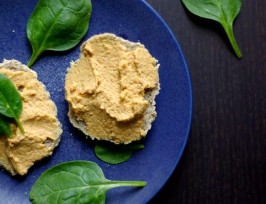 Sweet Carrot hummus with a Moroccan touch