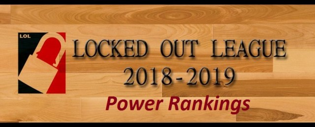Locked Out League 2018-19 Power Rankings - The Ball Hog - Know Your ... b4b24ec641b