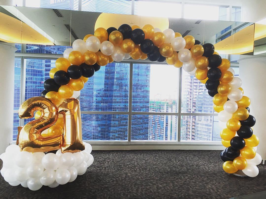 Premium balloon arch decorations in singapore for 21st birthday decoration ideas
