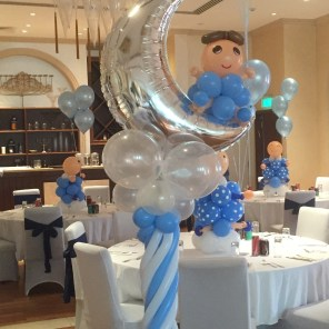 Singapore balloon columns balloon pillars the balloon for Baby shower decoration singapore