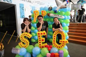 republic polytechnic open house 2017 balloon decoration