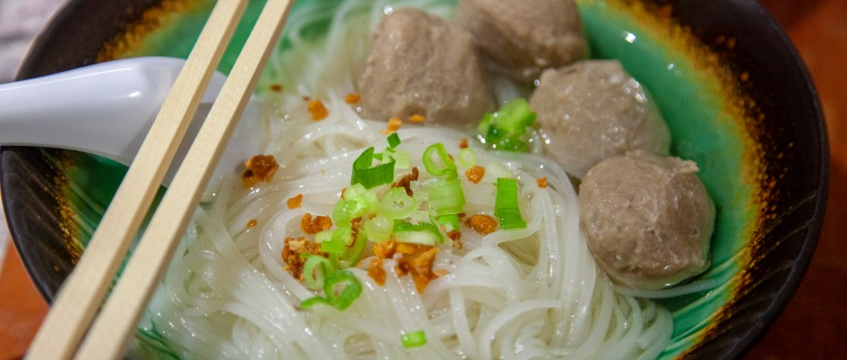 Rice Noodle Soup in Clear Broth